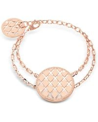 Rebecca - Melrose Yellow Gold Over Bronze Bracelet W/round Charms - Lyst