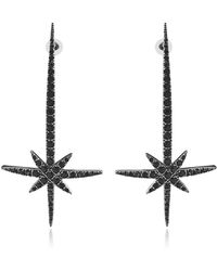 FEDERICA TOSI - Comet Earrings W/strass - Lyst
