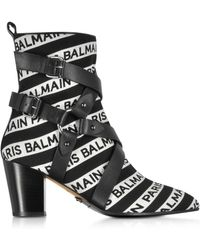 Balmain - Stripe Signature Logo Jilly Boots - Lyst