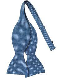 FORZIERI - Small Polkadot Self-tie Silk Bowtie - Lyst