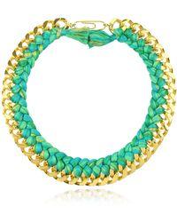 Aurelie Bidermann - Do Brasil Gold And Cotton Necklace - Lyst