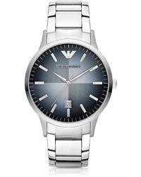 Emporio Armani - Stainless Steel Men's Watch - Lyst