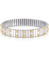 Nomination - Beads Stainless Steel W/golden Studs Women's Bracelet - Lyst