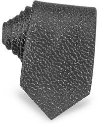 Lanvin - Geometric Woven Twill Silk Narrow Tie - Lyst