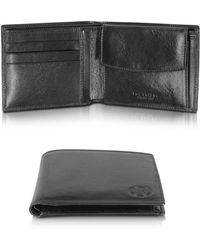 The Bridge - Story Uomo Black Leather Wallet W/coin Pocket - Lyst