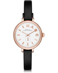 Marc By Marc Jacobs - Sally 28 Mm Stainless Steel And Leather Strap Women's Watch - Lyst