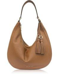 Michael Kors - Lydia Acorn Pebbled Leather Hobo Bag - Lyst