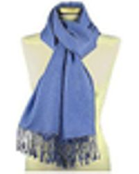 FORZIERI - Ocean Blue Pashmina & Silk Shawl - Lyst