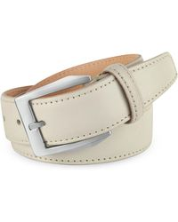 Pakerson - Men's White Hand Painted Italian Leather Belt - Lyst