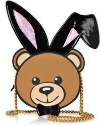 Moschino - Eco Leather Teddy Playboy Shoulder Bag - Lyst