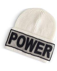 Versace - Power Manifesto White Wool Knit Hat - Lyst