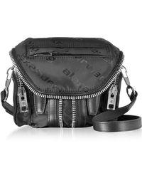 Alexander Wang - Micro Marti Black Aw Jacquard Logo Shoulder Bag - Lyst