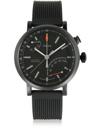 Timex - Metropolitan Black Brass Case Men's Watch W/interchangeable Strap - Lyst