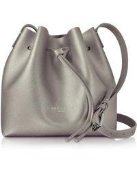 Lancaster Paris - Pur & Element Bronze Saffiano Leather Mini Bucket Bag - Lyst