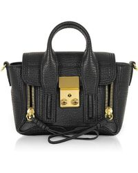 3.1 Phillip Lim - Black Leather Pashli Nano Satchel Bag - Lyst
