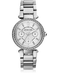 Michael Kors - Parker Stainless Steel Women's Watch - Lyst