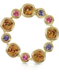 Forzieri | Purple Pink And Orcher Crystals Bracelet | Lyst