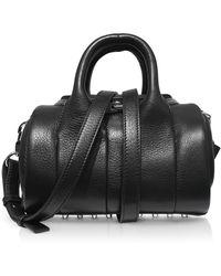 Alexander Wang - Mini Rockie Black Pebbled Leather Satchel Bag - Lyst