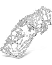 Bernard Delettrez - White Gold And Diamonds Shield Articulated Ring - Lyst