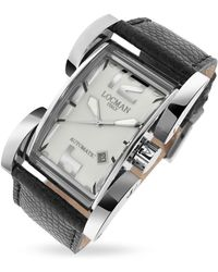 LOCMAN - Latin Lover - Silver Dial Black Reptile Band Automatic Watch - Lyst
