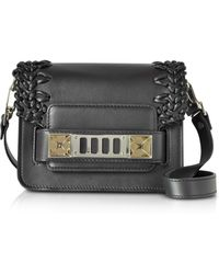Proenza Schouler - Ps11 Black Smooth Leather Crossbody Bag W/crochet - Lyst