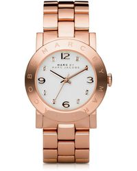 Marc By Marc Jacobs - Amy 36.5mm Rose Stainless Steel Bracelet Watch - Lyst