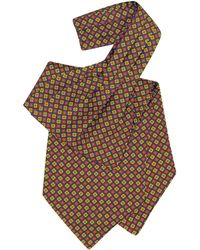 FORZIERI - Corbata Ascot de Seda con Flores Estampados Multicolor - Lyst