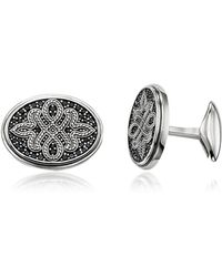 Thomas Sabo - Blackened Sterling Silver Love Knot Cufflinks - Lyst