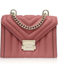 9a84f075f6d0 Michael Kors - Whitney Small Rose Quilted Leather Convertible Shoulder Bag  - Lyst