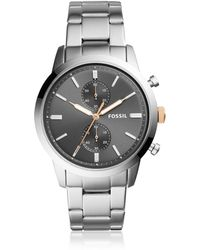 Fossil - 44mm Townsman Chronograph Stainless Steel Watch - Lyst