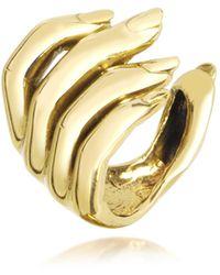 Bernard Delettrez - Goldtone Open Hand Women's Bronze Ring - Lyst
