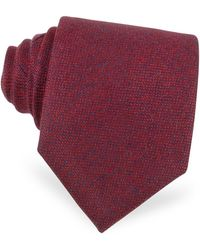 FORZIERI - Red And Blue Textured Cashmere Tie - Lyst