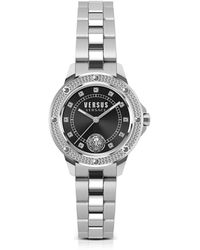 Versus - South Horizons Crystal Stainless Steel Women's Bracelet Watch W/black Dial - Lyst