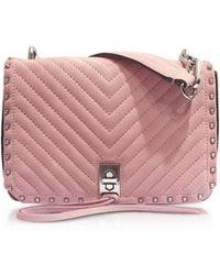 Rebecca Minkoff - Blossom Pink Nappa Leather Small Becky Crossbody - Lyst