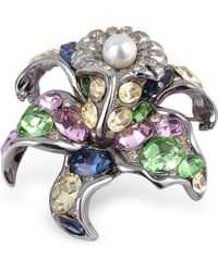AZ Collection - Multicolour Flower Brooch - Lyst