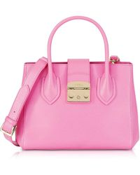 Furla - Orchid Leather Metropolis Small Tote Bag - Lyst