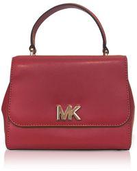 Michael Kors - Mott Small Leather Satchel Bag - Lyst