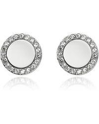 Fossil - Glitz Stainless Steel Women's Stud Earrings - Lyst