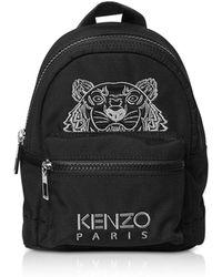 KENZO - Black Tiger Nylon Mini Backpack - Lyst