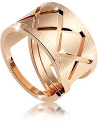 Rebecca - Melrose Yellow Gold Over Bronze Ring - Lyst