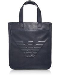 Emporio Armani - Black Eagle Men's Vertical Tote Bag - Lyst