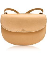 A.P.C. - Beige Geneve Leather Crossbody Bag - Lyst