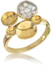 Orlando Orlandini - 18k Yellow Gold Ring W/diamond - Lyst