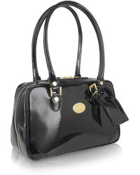 L.A.P.A. - Black Italian Patent Leather Shoulder Bag - Lyst