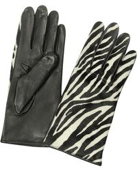 FORZIERI - Women's Zebra Pony Hair And Italian Nappa Leather Gloves - Lyst