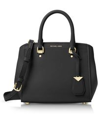 Michael Kors - Benning Medium Leather Satchel - Lyst