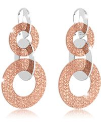 Rebecca - R-zero Rose Gold Over Bronze Dangle Earrings - Lyst