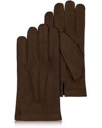 FORZIERI - Herren Handschuhe aus Kaschmir und italienischem Kalbsleder in dunkelbraun - Lyst