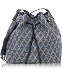 Lancaster Paris - Ikon Small Coated Canvas Bucket Bag - Lyst
