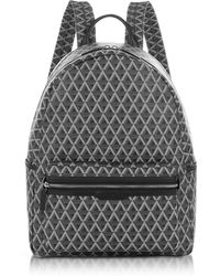 Lancaster Paris - Ikon Black Coated Canvas Men's Backpack - Lyst